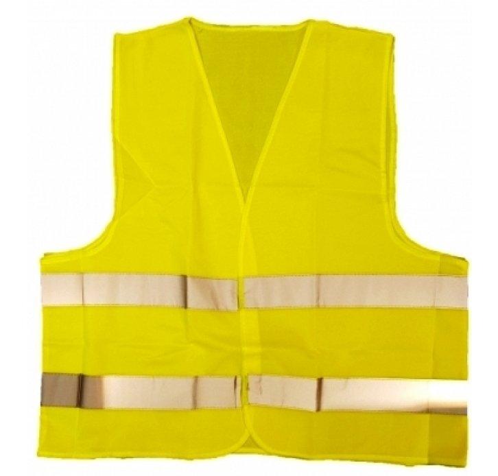 אפוד זוהר צהוב תקני לרכב