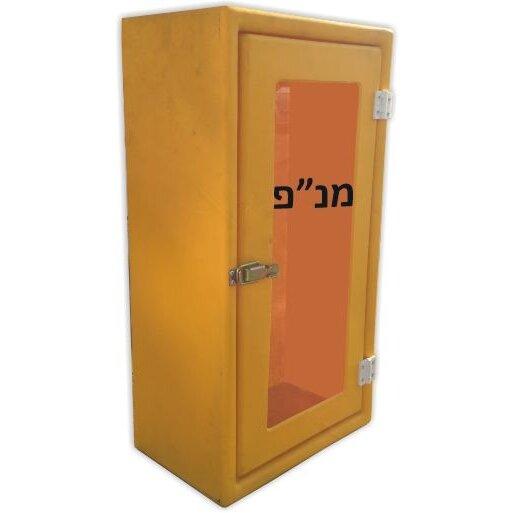 ארון פיברגלס למנפ עם דלת שקופה