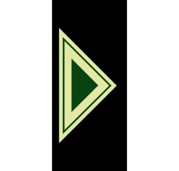 חץ משולש ירוק קטן פולט אור