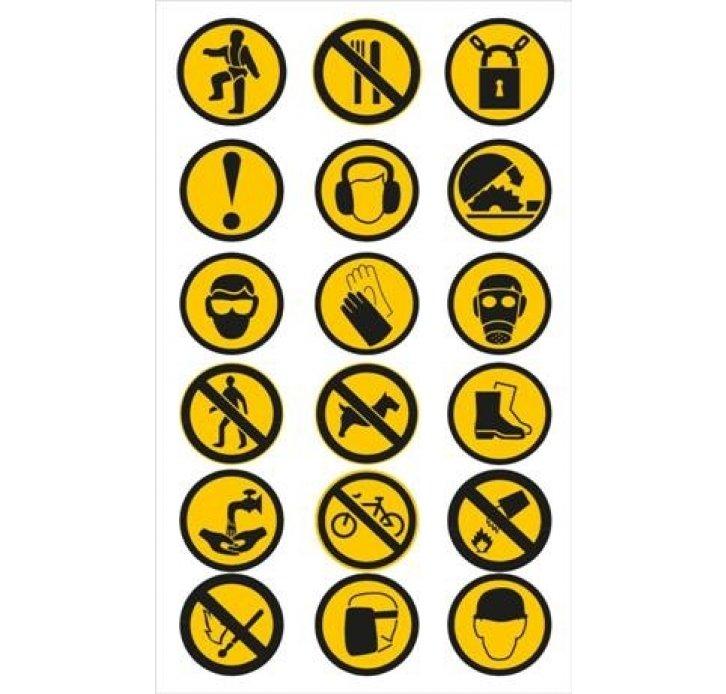 מדבקות סמלי אזהרה שונים