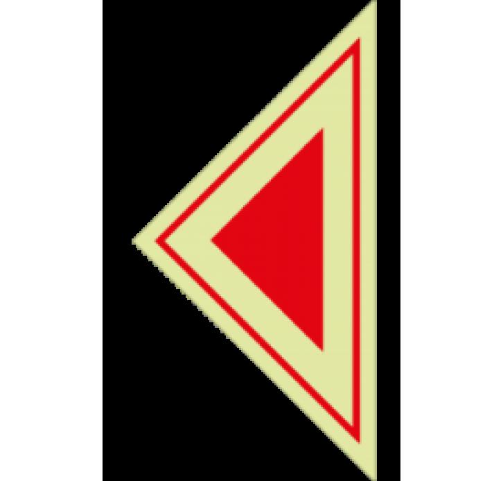 שילוט פולט אור חץ משולש אדום גדול