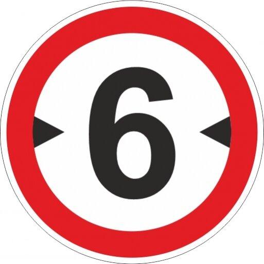 תמרור 417 תמרור אסורה הכניסה לרכב שרחבו כולל המטען עולה על מספר המטרים הרשום בתמרור