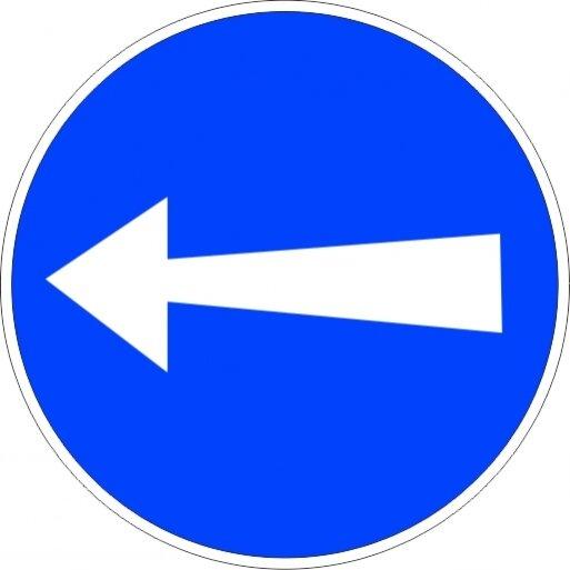 תמרור 205 תמרור סע שמאלה