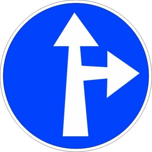 תמרור 201 סע ישר או ימינה