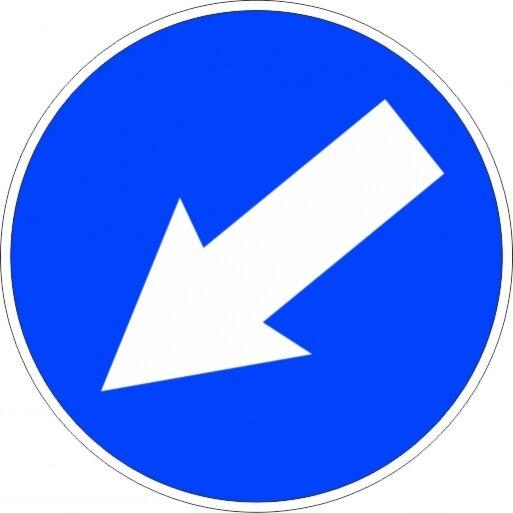 תמרור 215 עבור את המקום המסומן מצדו הימני או השמאלי