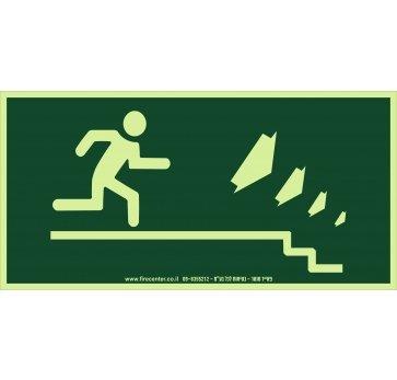 איש רץ ימינה למטה פולט אור
