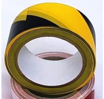 סרט סימון מדבקה צהוב שחור 25 מטר
