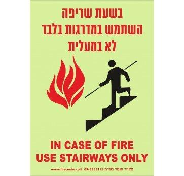 שלט בזמן שריפה השתמש במדרגות בלבד פולט אור