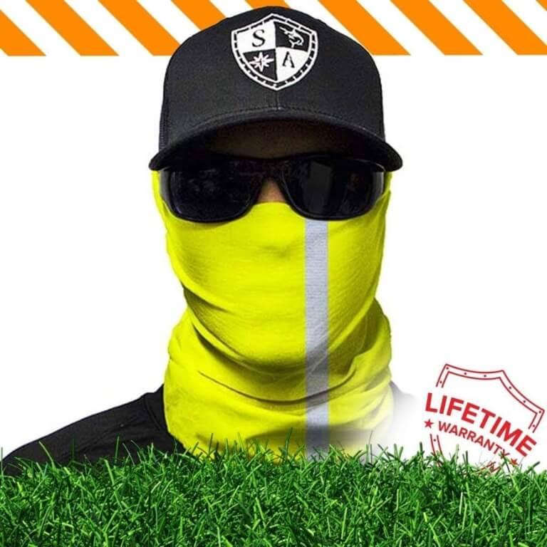 מגן פנים מחזיר אור צהוב