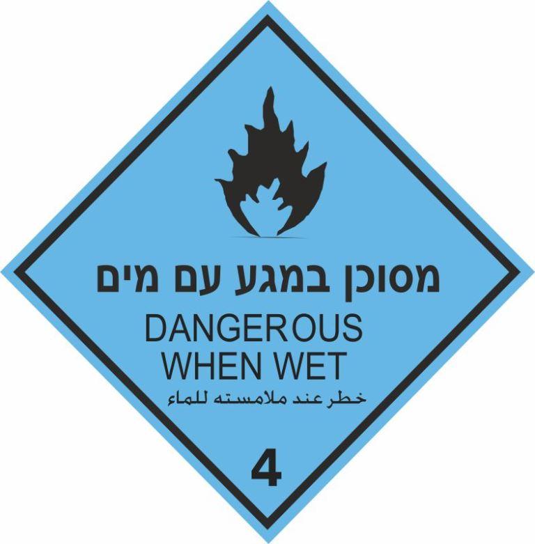 מסוכן במגע עם מים